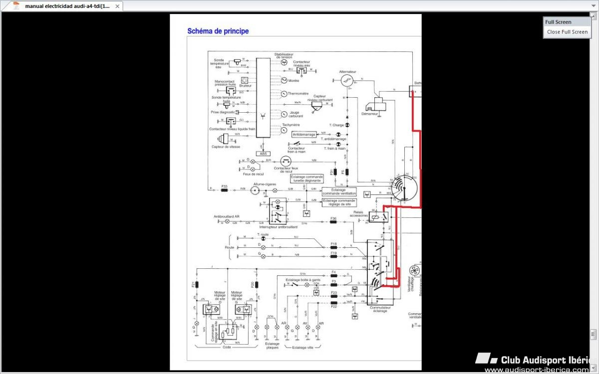 consumo de bateria - audi a4 b5  1995-2001