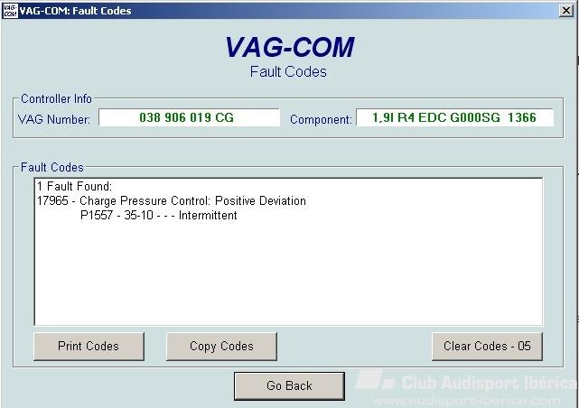 Fallo N75? Esto es lo que dice el VAGCOM - Vag-Com Audi A4