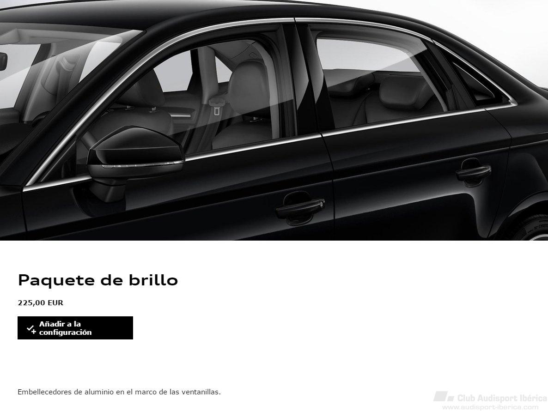 Cercos ventanillas cromados o negro brillante - Audi A3 8V (A partir ...